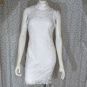 White Fancy Crochet Dress